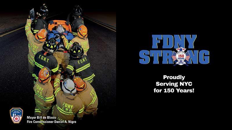 FDNY Commissioner unveils Vanguard-designed National EMS week 2015 kiosk posters
