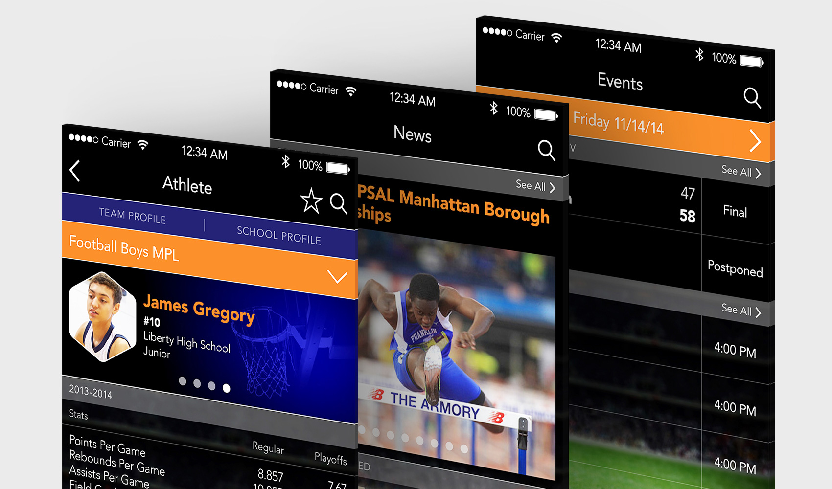Vanguard - Mobile Application Development for the Public Schools Athletic League (PSAL) / NYC Department of Education